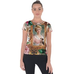 Victorian Collage Of Woman Short Sleeve Sports Top