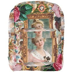 Victorian Collage Of Woman Full Print Backpack