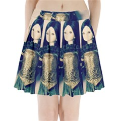 Forest Queen Pleated Mini Skirt