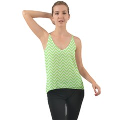 Green Chevron Cami