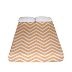 Orange Chevron Fitted Sheet (full/ Double Size)