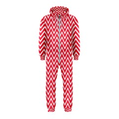 Red Chevron Hooded Jumpsuit (kids)