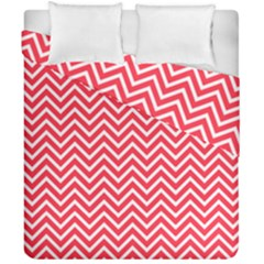 Red Chevron Duvet Cover Double Side (california King Size)