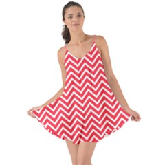 Red Chevron Love The Sun Cover Up