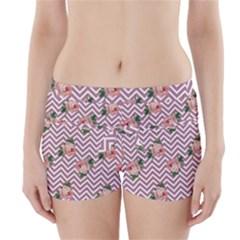 Violet Chevron Rose Boyleg Bikini Wrap Bottoms