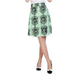 Three Women Green A Line Skirt