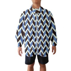Chevron Blue Brown Wind Breaker (kids)