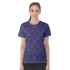 Damask Purple Women s Cotton Tee