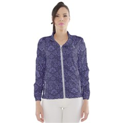 Damask Purple Wind Breaker (women)