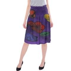 Flowers Midi Beach Skirt