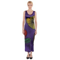 Flowers Fitted Maxi Dress