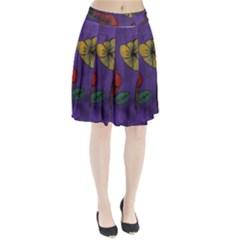 Flowers Pleated Skirt