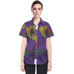 Flowers Women s Short Sleeve Shirt