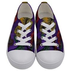 Flowers Kids  Low Top Canvas Sneakers