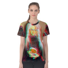 Eating Lunch 3d Women s Cotton Tee
