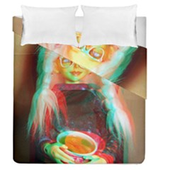 Eating Lunch 3d Duvet Cover Double Side (queen Size)