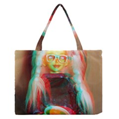 Eating Lunch 3d Zipper Medium Tote Bag
