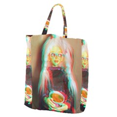 Eating Lunch 3d Giant Grocery Zipper Tote