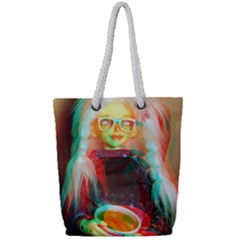 Eating Lunch 3d Full Print Rope Handle Tote (small)