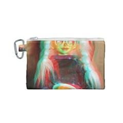 Eating Lunch 3d Canvas Cosmetic Bag (small)