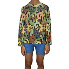 Abstract 2920824 960 720 Kids  Long Sleeve Swimwear