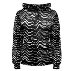Dark Abstract Pattern Women s Pullover Hoodie