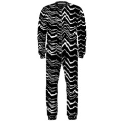 Dark Abstract Pattern Onepiece Jumpsuit (men)
