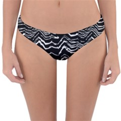 Dark Abstract Pattern Reversible Hipster Bikini Bottoms