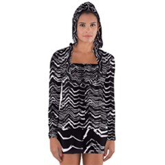 Dark Abstract Pattern Long Sleeve Hooded T Shirt