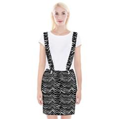 Dark Abstract Pattern Braces Suspender Skirt