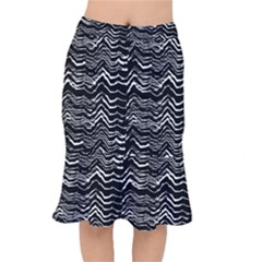 Dark Abstract Pattern Mermaid Skirt