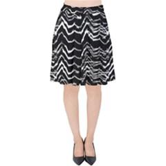 Dark Abstract Pattern Velvet High Waist Skirt