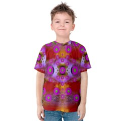 Shimmering Pond With Lotus Bloom Kids  Cotton Tee