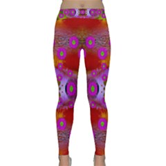 Shimmering Pond With Lotus Bloom Classic Yoga Leggings