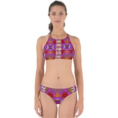 Shimmering Pond With Lotus Bloom Perfectly Cut Out Bikini Set