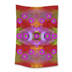 Shimmering Pond With Lotus Bloom Small Tapestry