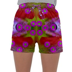 Shimmering Pond With Lotus Bloom Sleepwear Shorts