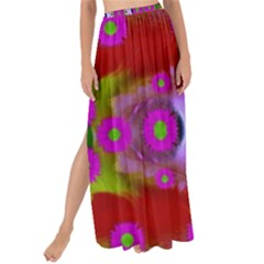 Shimmering Pond With Lotus Bloom Maxi Chiffon Tie Up Sarong