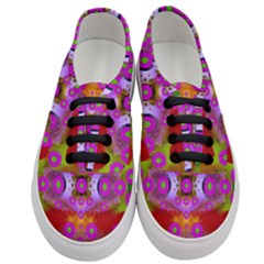 Shimmering Pond With Lotus Bloom Women s Classic Low Top Sneakers