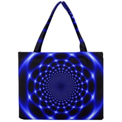 Indigo Lotus  Mini Tote Bag