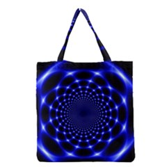 Indigo Lotus  Grocery Tote Bag