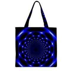 Indigo Lotus  Zipper Grocery Tote Bag