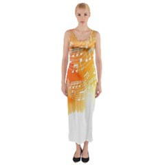 Sunset Notes Fitted Maxi Dress