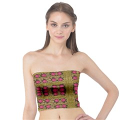 Bloom In Gold Shine And You Shall Be Strong Tube Top