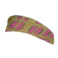 Bloom In Gold Shine And You Shall Be Strong Stretchable Headband