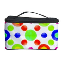 Multicolored Circles Motif Pattern Cosmetic Storage Case