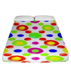 Multicolored Circles Motif Pattern Fitted Sheet (king Size)
