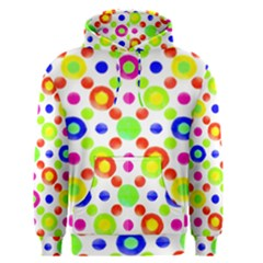 Multicolored Circles Motif Pattern Men s Pullover Hoodie
