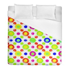 Multicolored Circles Motif Pattern Duvet Cover (full/ Double Size)