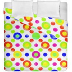Multicolored Circles Motif Pattern Duvet Cover Double Side (king Size)